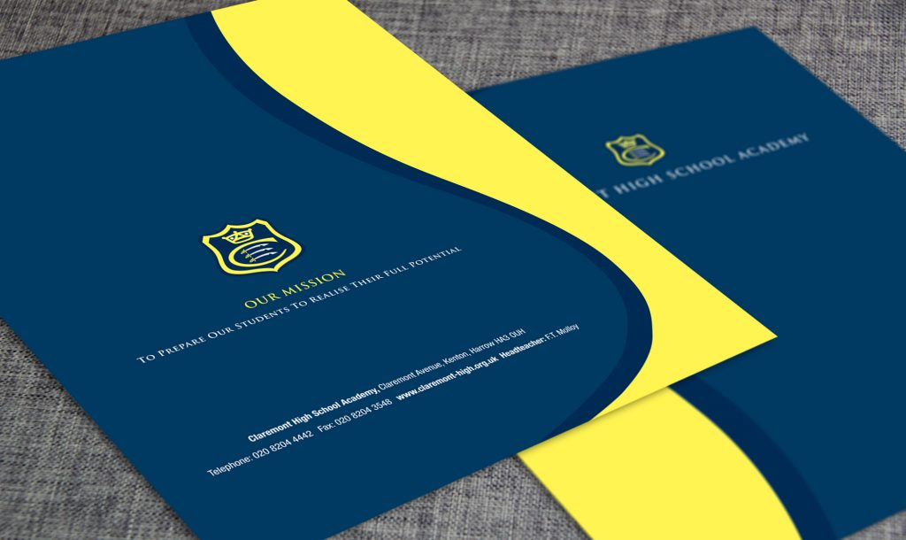 Claremont high school designed 2 print design and print 20mm capacity wallets ring binder inserts business cards reheart Images